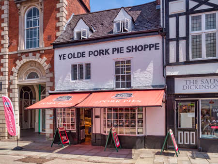 Melton Mowbray, the Old Pork Pie Shoppe, Leicestershire, UK