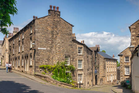 Lancaster UK Castle Hill Victorian Terrace Houses 免版税图像 - 156055980
