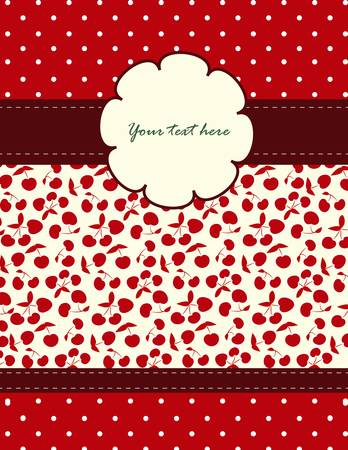 Card with cherries pattern for your holiday