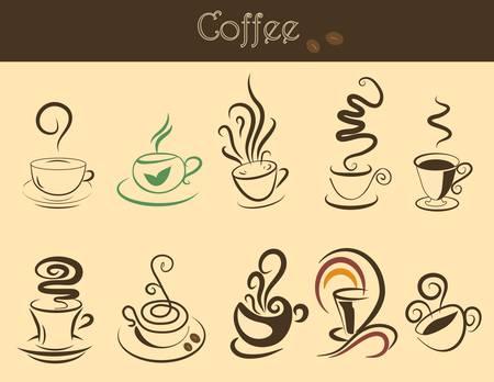 디자인을위한 좋은 커피 컵 세트