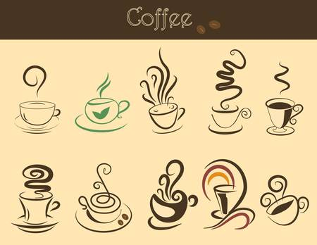 Set of nice coffee cups for your design Vector