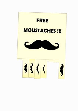 notice of free moustaches for your design