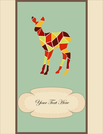 mosaic young deer, a card for you design