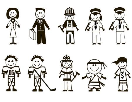 Professions icons set. Occupations symbols collection. Stock Vector - 17224061