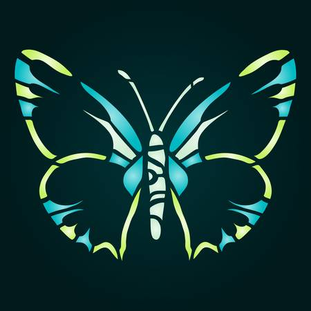 colorful butterfly illustration for your design Stock Vector - 17223952