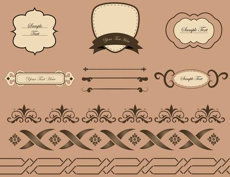 lots of useful elements to embellish your layout Vector