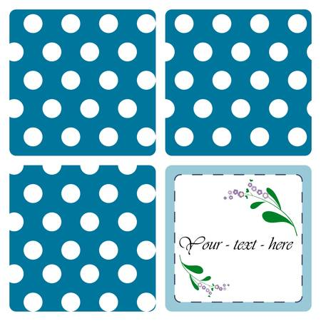 Nice card with pattern on the blue background Vector