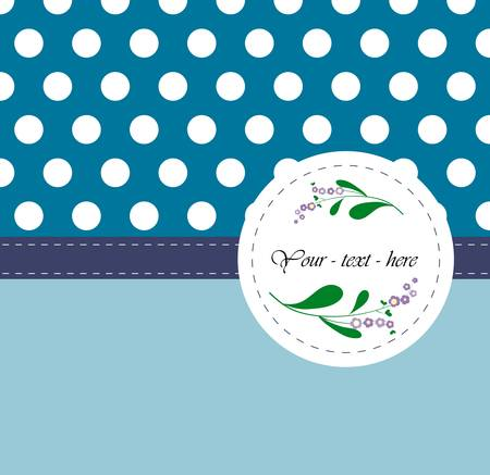Nice card with pattern on the blue background Illustration
