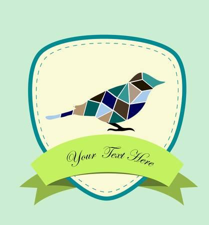 hatchling: mosaic bird, a card for you design