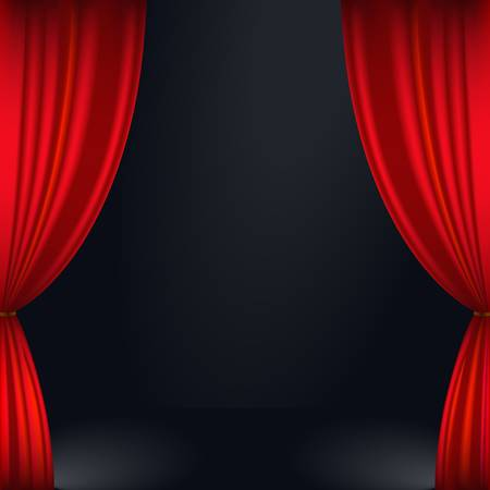 illustration of a red stage curtain Vector