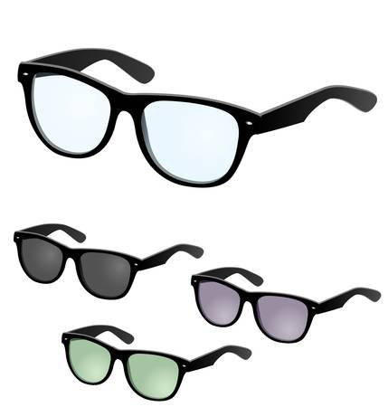 illustration of a vector set of glasses Stock Vector - 21985973