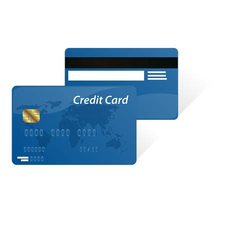 mastercard: Realistic vector credit cards isolated on white background