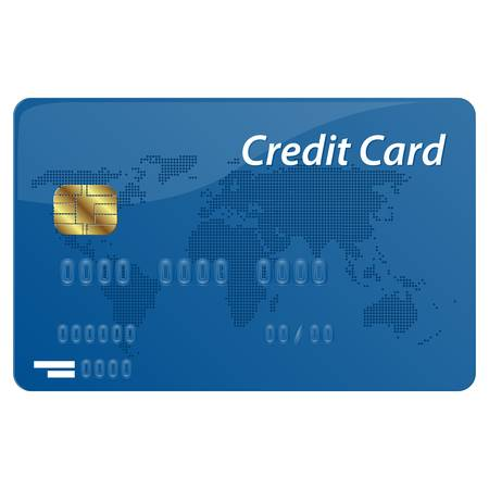 현실적인 벡터 신용 카드 흰색 배경에 고립