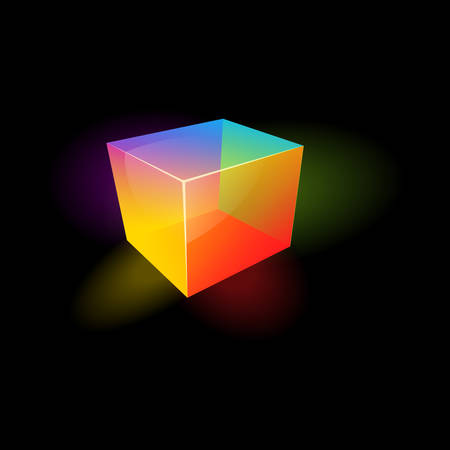 illustration of a color glass cube Stock Vector - 22285082