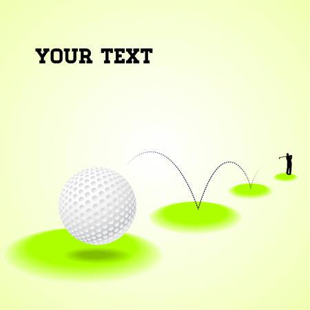 illustration of a bouncing golf ball Illustration