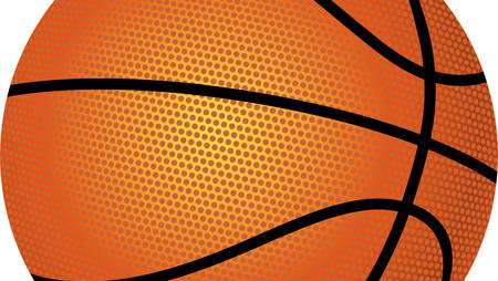 illustration of a basketball on white background