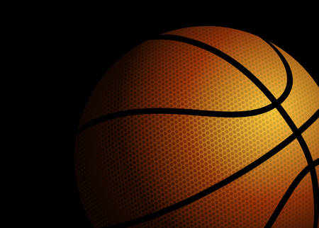 illustration of a basketball on black background
