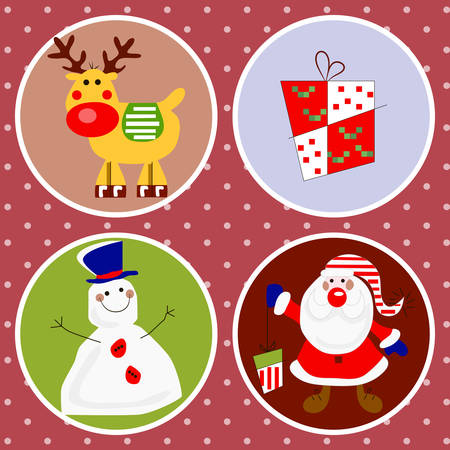 Cute vector Christmas characters for your design Vector