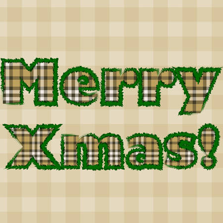 Vector illustration of Christmas letters with pattern Vector