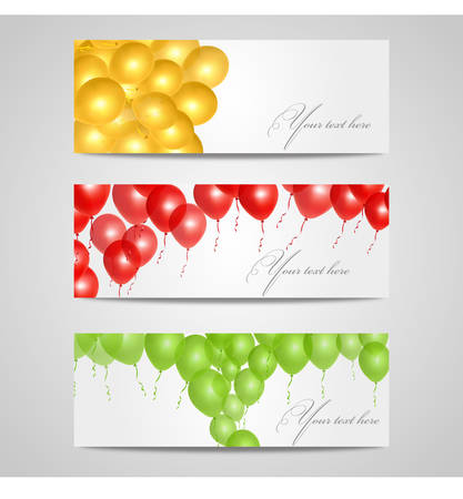 Vector illustration of colorful glossy balloons on white background Vector