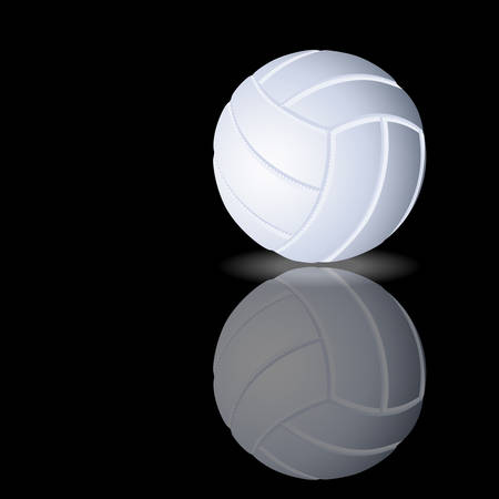 Vector illustration of a volleyball on black background Vector