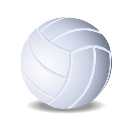 Vector illustration of a volleyball on white background Vector
