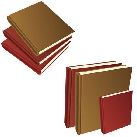 Vector illustration of books on white background Illustration