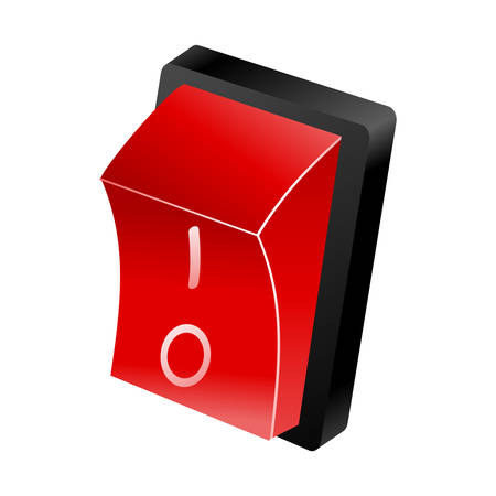 Vector illustration of a red switch button Vector