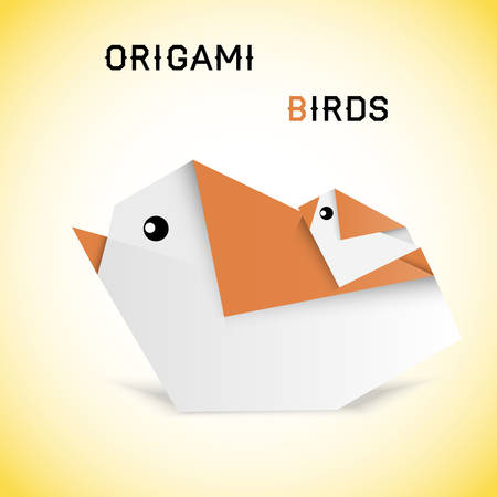 pasteboard: Vector illustration of birds in origami style