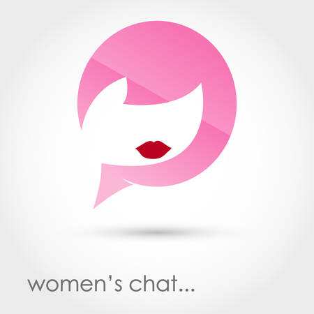 suggestion: Vector illustration of a womens chat on white background