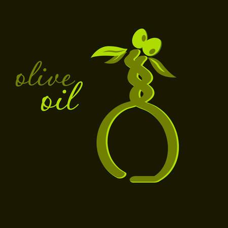 ewer: Vector illustration of an olive oil illustration Illustration