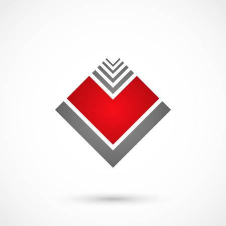 labirinth: Vector illustration of a geometrical heart on white background Illustration