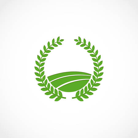agro: Vector illustration of a green agro symbol