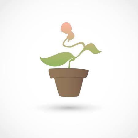 set going: illustration of a baby plant Illustration