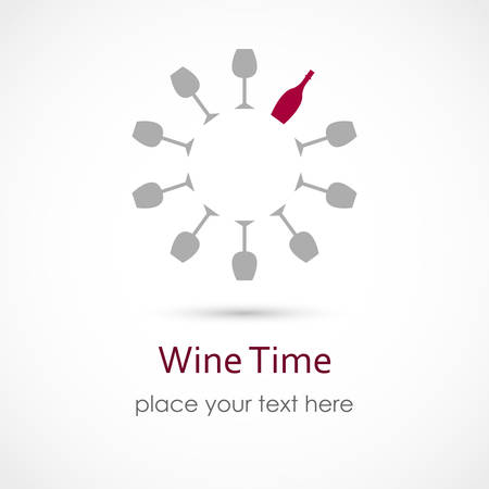 illustration of a Wine Time