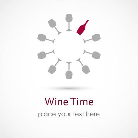 Illustrazione di un Wine Time Archivio Fotografico - 58172469