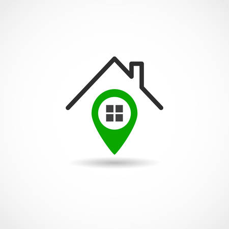 Vector illustration of a House Tag