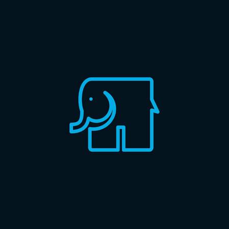 Vector illustration of an Elephant symbol