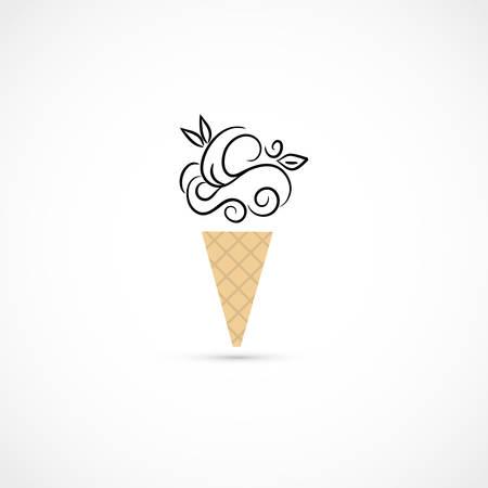 Vector illustration of an ice cream Illustration