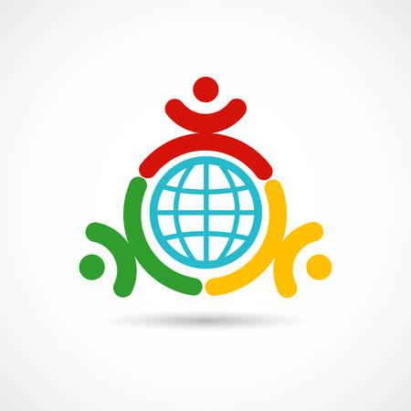 Vector illustration of a World union symbol Illustration