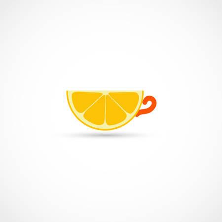 Vector illustration of an Orange tea Illustration