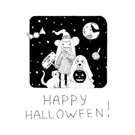 Halloween Vector Giftcard