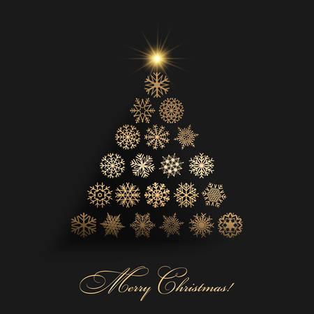 Vector illustration of A Christmas Vector Tree Symbol