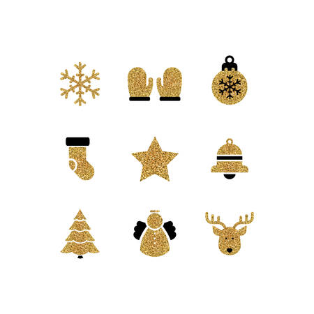Vector illustration of a Set of Christmas Icons