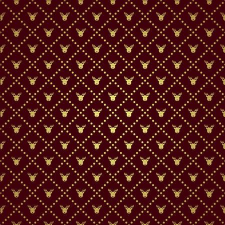 Vector illustration of a Vector Reindeer pattern