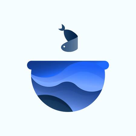 Vector illustration of an aquarium fish Illustration