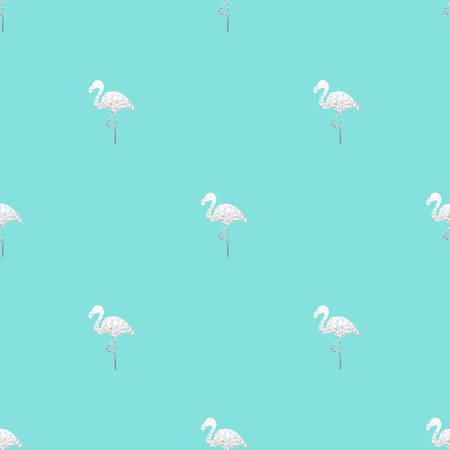 Vector illustration of flamingo pattern Illustration