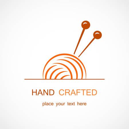 Vector illustration of a Knitting Vector Symbol Illustration