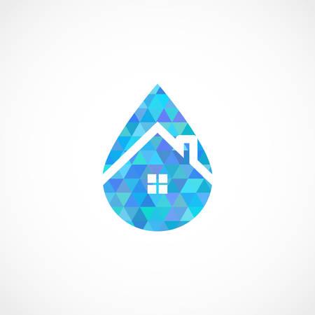 Drop House Vector illustration