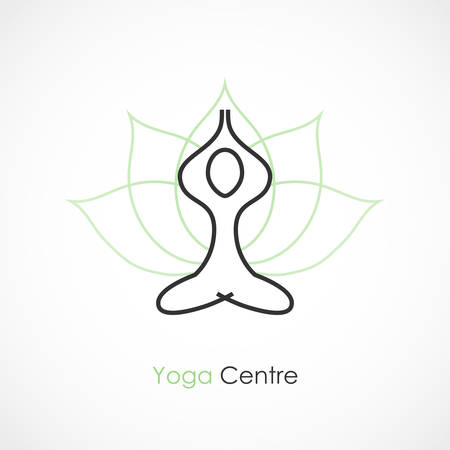 Vector illustration of a Yoga icon